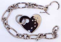 Ladies Gold Bracelet with Heart Shape Charm
